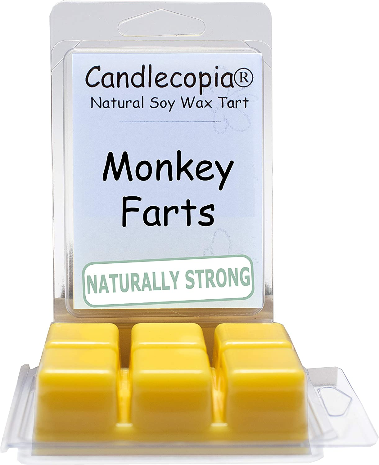 Candlecopia Monkey Farts Strongly Scented Hand Poured Vegan Wax Melts, 12 Scented Wax Cubes, 6.4 Ounces in 2 x 6-Packs gizhufhklonrsd