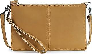 Befen Leder-Clutch, börse, kleine Crossbody-Tasche für Damen, (Kamel - Nubukleder), Small