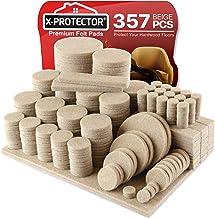 Patins feutre X-PROTECTOR - Protecteur de sol tampon feutre 357 Paq Ultra Large - Toutes les tailles de patin feutre pour ...