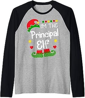 I'm The Principal Elf Shirt Christmas Family Elf Costume Tee Raglan Baseball Tee