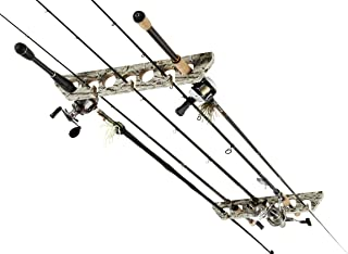 Camo Horizontal Ceiling Rack for Fishing Rod Storage, Holds up to 7 Fishing Rods