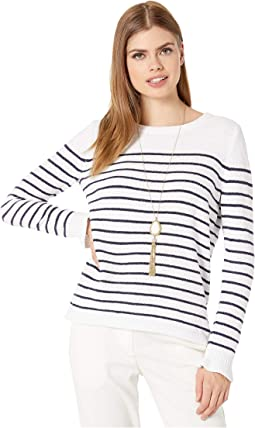 Resort White Coastal Shell Stripe
