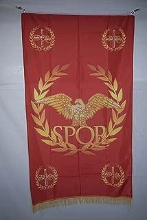 Western Roman Empire Senate & People of Rome SPQR History Fringe Flag Banner 3x5