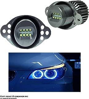 ICBEAMER LED Angel Eye Marker Bulbs Fit E90,E91 LCI BMW Halo Ring Standard Halogen Headlights Replacement Bulbs [Blue]