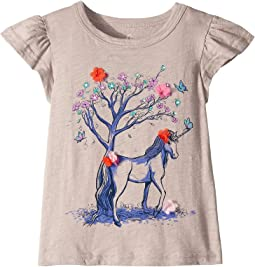 Flower Unicorn Tee (Toddler/Little Kids/Big Kids)