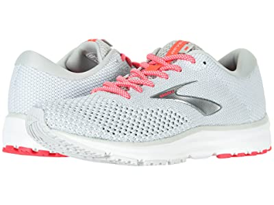 Brooks Revel 2 (Grey/White/Pink) Women