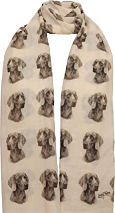 Weimaraner scarf with dogs on mike sibley hand printed womens fashion shawl