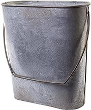 Farm Cottage Farmhouse Galvanized Tin Storage Organization Hanging Bucket Basket Pocket Holder Container with Handle, for Kitchen, Bath, Indoor Outdoor Antique Vintage Primitive Style Decor