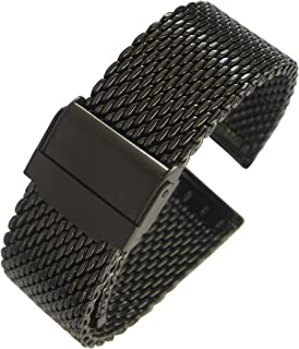 Eulit Stalux 22mm Milanese Mesh PVD Stainless Steel Watch Band