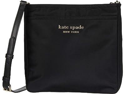 Kate Spade New York New Nylon Medium Swing Pack (Black) Handbags