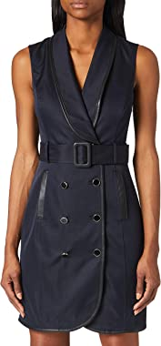 Morgan Robe Trench Risette Casual Dress Femme