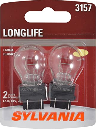 SYLVANIA 3157 Long Life Miniature Bulb, (Contains 2 Bulbs)