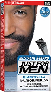 JUST FOR MEN Color Gel Mustache, Beard & Sideburns 115 Jet Black 1 Each (Pack of 4)