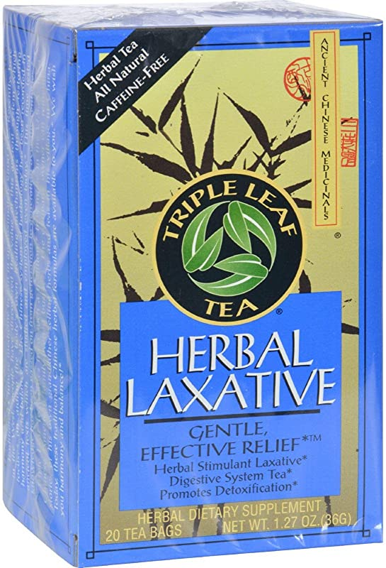 Triple Leaf Tea Herbal Laxative 20 Tea Bags