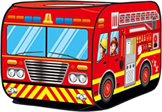 Kiddie Play Fire Truck Pop Up Kids Play Tent for Boys and Girls Indoor Outdoor Toy