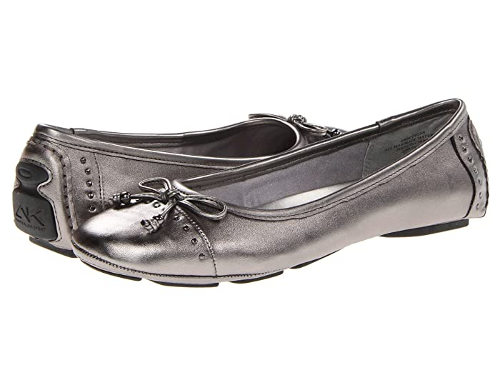 Anne Klein  Buttons Flat (Pewter 2) Womens Flat Shoes