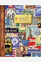 """Road Trip Planner: Vacation Planner & Travel Journal / Diary for 4 Trips, with Checklists, Itinerary & more [ Softback * Large (8"""" x 10"""") * American Roadtrip ] (Travel Gifts) Paperback"""