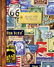 """Road Trip Planner: Vacation Planner & Travel Journal / Diary for 4 Trips, with Checklists, Itinerary & more [ Softback * Large (8"""" x 10"""") * American Roadtrip ] (Travel Gifts)"""