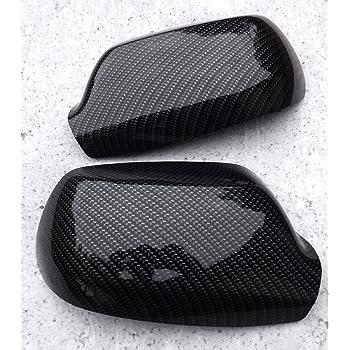Spiegelkappen Set Wassertransferdruck Carbon-Optik passend f/ür 206 neu Geh/äuse Aussenspiegel