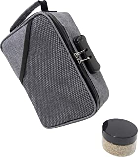 Smell Proof Bags with Lock by Hydroflyy - (Secure) Combination Lock and Large Storage Capacity, Keep Your Essentials Oils, Grinder and Smelly Accessories in a Safe Place - Bonus Smell Proof Jar (Gray)