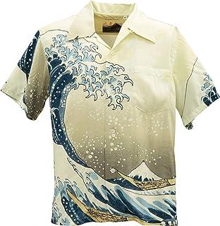 SUN SURF [サンサーフ×北斎] アロハシャツ HAWAIIAN SHIRT SPECIAL EDITION/神奈川沖波裏 SS37651-105 Off White