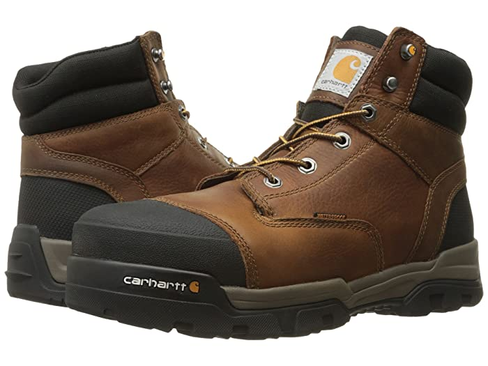 Carhartt  6 Ground Force Waterproof Composite Toe Work Boot (Brown Oil Tanned Leather) Mens Work Lace-up Boots