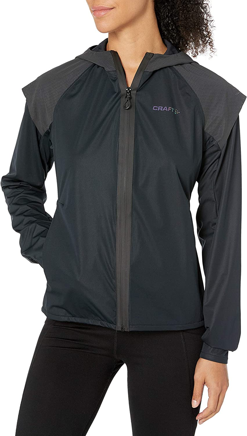 Craft Womens Lumen Subz Hooded Cold Weather Reflective Running Jacket