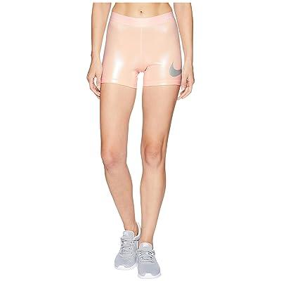Nike Rise Pack Shorts 3 (Crimson Tint/Metallic Silver) Women
