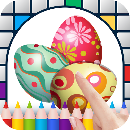 Easter Eggs Color by Number - Free Pixel Art Game - Coloring Book Pages - Happy, Creative & Relaxing - Paint & Crayon Palette - Zoom in & Tap to Color - Share Creations with Friends!