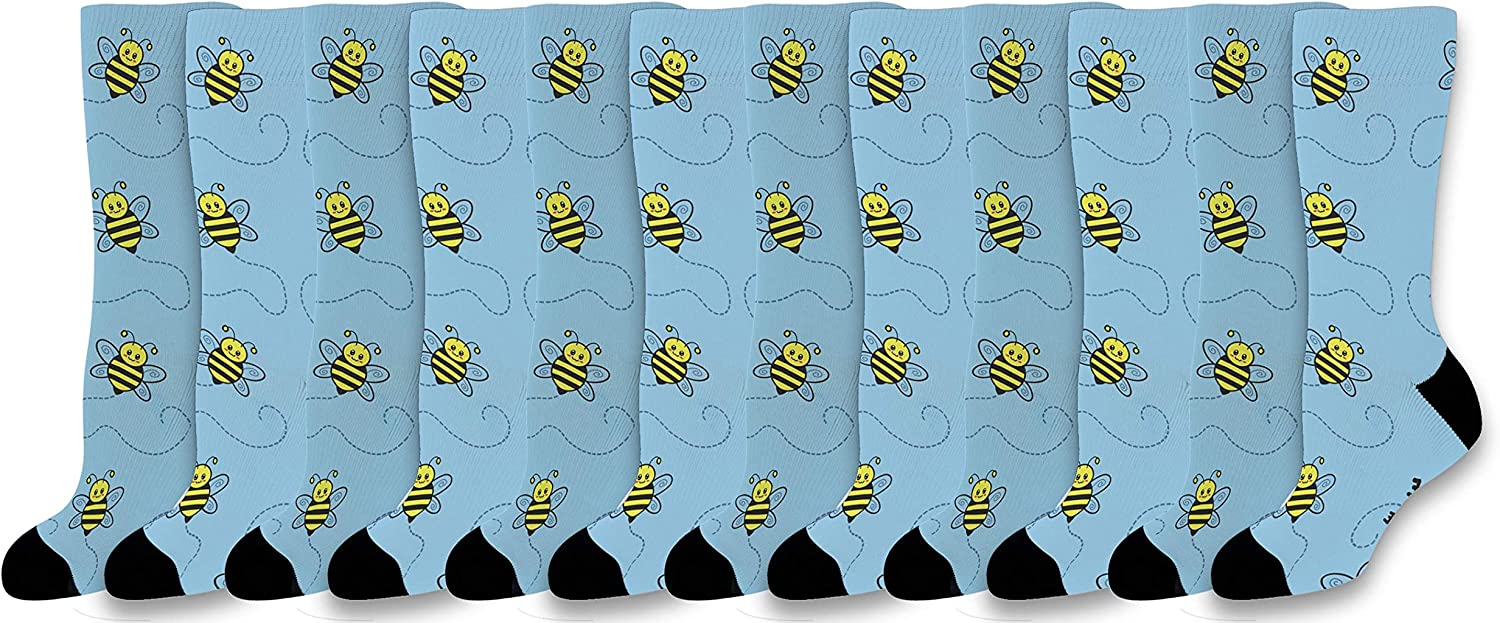 You Make Me Hap-Bee Cute Kawaii Cash special price Crew Bee Bumble Novelty Socks Max 69% OFF