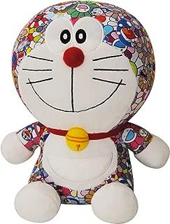 DIVADIS Doraemon Peluche Grande Original 25 cm, Juguete Muñeco Gato Robot de Felpa Colorida con Escenas Impresas del Manga Japonés