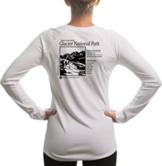 American Backcountry Glacier Point National Park Womens UPF 50 Long Sleeve T-Shirt XX-Large White