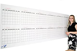 "Dry Erase Wall Calendar - Blank 12 Month Large Wall Calendar- 36""x96"" Giant Office Calendar"