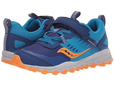 Saucony Kids S-Peregrine 10 Shield A/C (Little Kid/Big Kid) (Blue/Orange) Boys Shoes