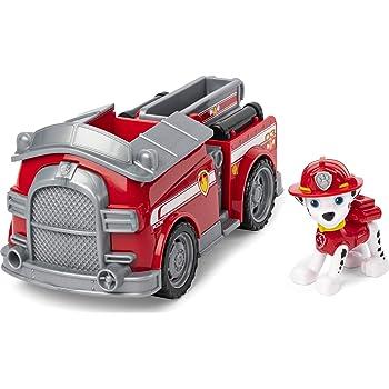 PAW PATROL, 6052310 Veicolo Camion dei Pompieri di Marshall, 1 Personaggio di Marshall Incluso, dai 3 Anni