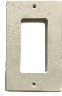 Ivory Light Travertine Switch Plate Cover (SINGLE ROCKER)