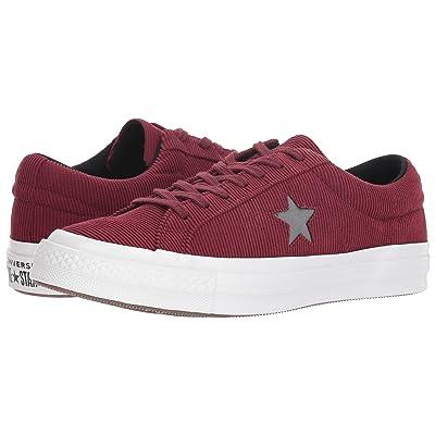 Converse One Star Corduroy Ox (Dark Burgundy/Mason) Shoes