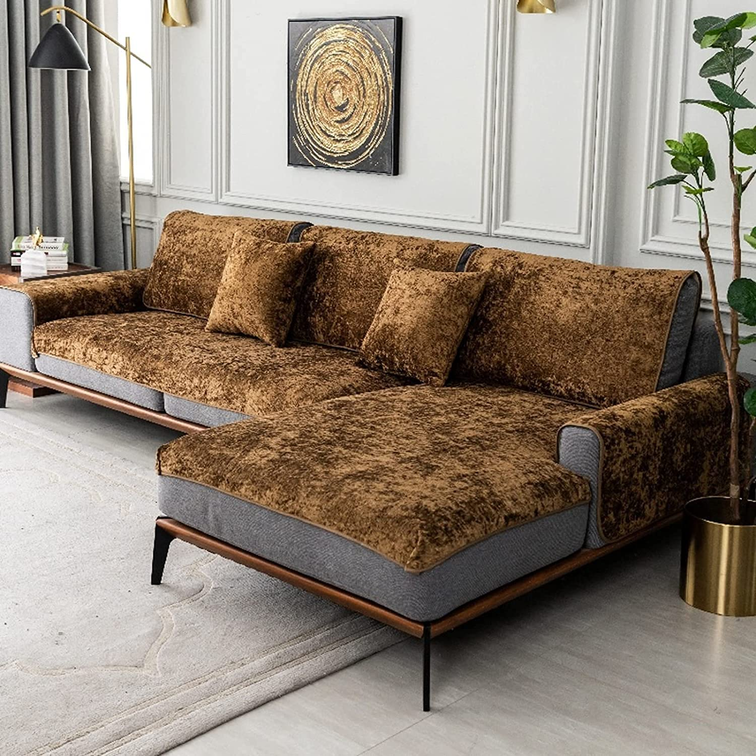 Discount is also underway ZYZCJT 100% Waterproof Jacquard Sofa Slipcover Suede Albuquerque Mall