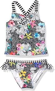 Jessica Simpson Girls' Two-Piece Tankini Swimsuit Set