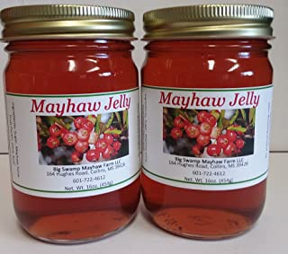 Two Swamp May-Haw Jelly Each in A Glass Jar Net Weight 16 Oz