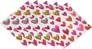 Entertaining with Caspari Happy Hearts Cocktail Napkins, Pack of 20