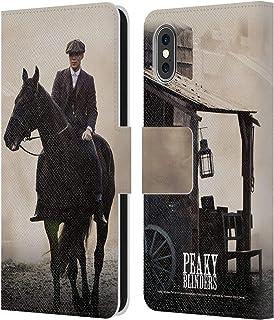 Officiële Peaky Blinders Thomas Shelby Paard Personages Lederen Book Portemonnee Cover compatibel met Apple iPhone X/iPhon...