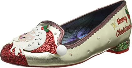 Irregular Choice The Clauses Womens Synthetic Flat in Gold