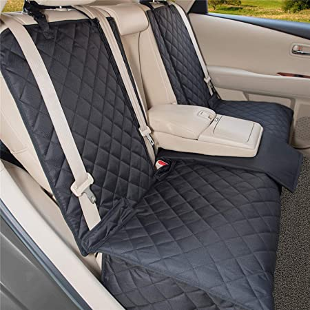 YESYEES Waterproof Dog Car Seat Covers Pet Seat Cover Nonslip Bench Seat Cover Compatible for Middle Seat Belt and Armrest Fits Most Cars, Trucks and SUVs