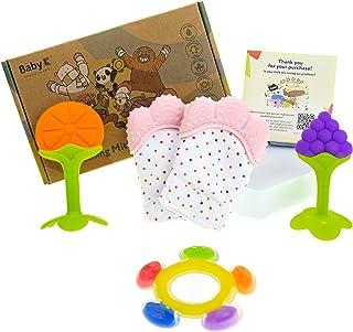 BABY K Baby Teething Mitten and Teething Toy Set (Pink...