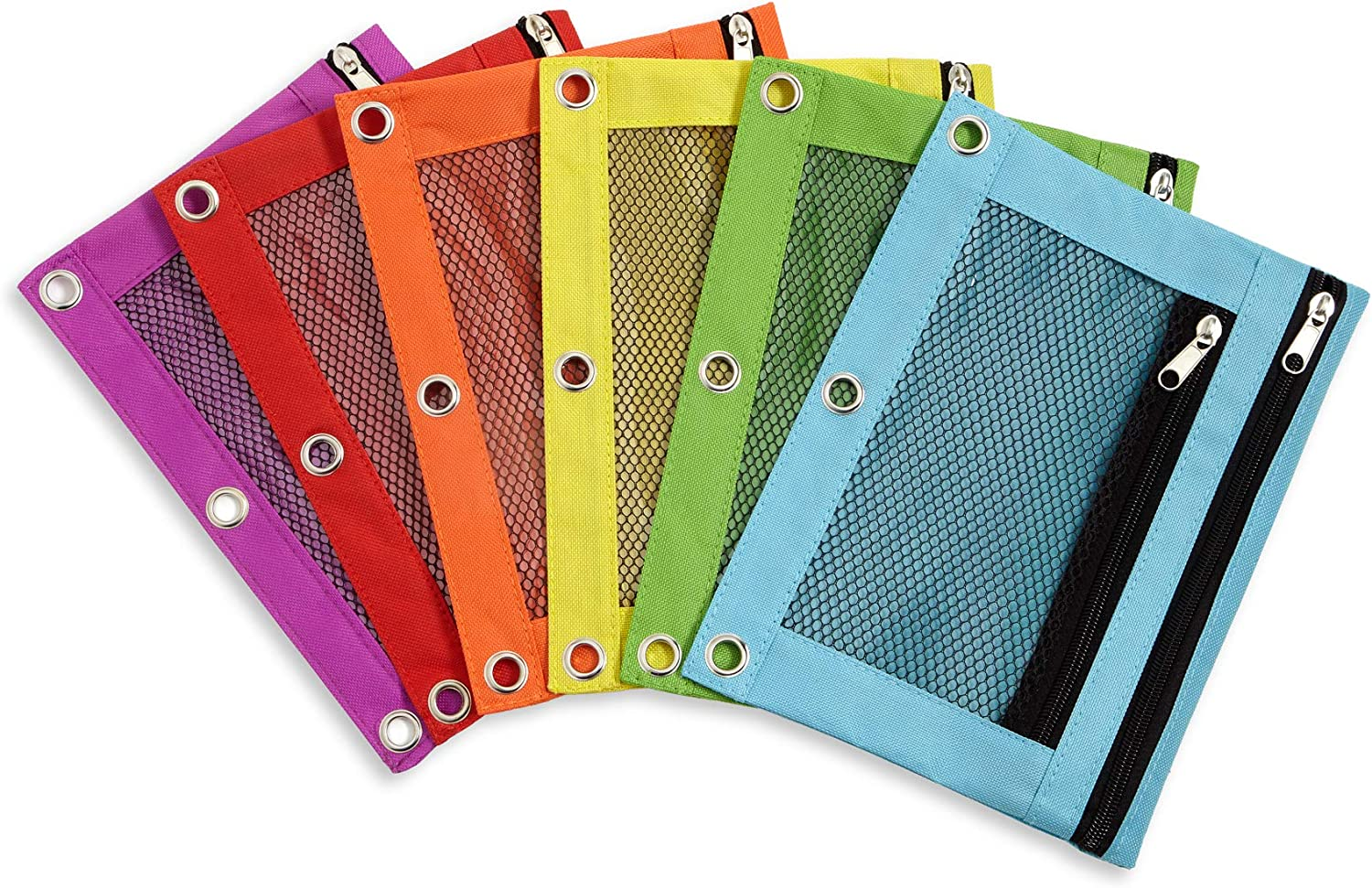 Blue outlet Summit Supplies Pencil Pouches 6 Bulk Pouch Pack Sale price in