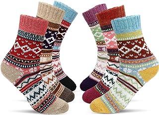 Mujer Calcetines, 6 Pares Calcetines De Algodón Niña Calcetines Divertidos Acogedor Transpirable EU Tamaño 35~42