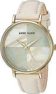 Anne Klein AK2790IMIV Reloj para Mujer Redondo, Análogo, color beige