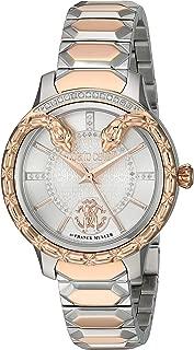 ROBERTO CAVALLI Women's Swiss Quartz Watch with Stainless Steel Strap, Two Tone, 14 (Model: RV2L025M0046)
