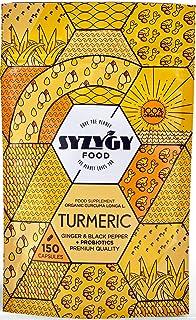 Syzygy Food Cúrcuma con Jengibre y Pimienta Negra + Probióticos, 150 Cápsulas de 760Mg, Certificación Bio, Sin Excipientes...